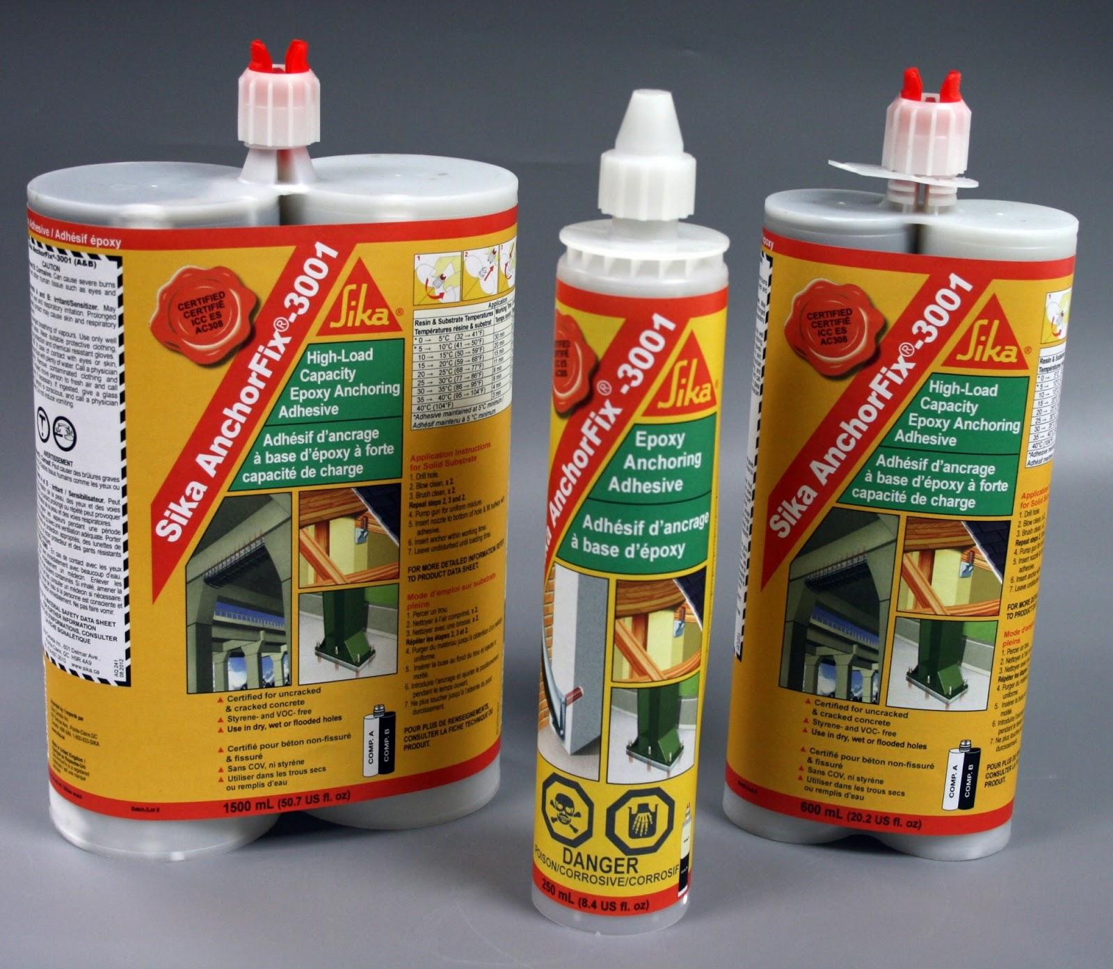 Keo cấy thép Sika Anchorfix 3001 - sản phẩm nổi trội mang thương hiệu Sika