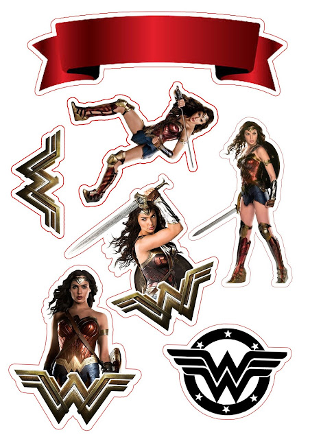 Wonder Woman: Free Printable Cake Toppers.