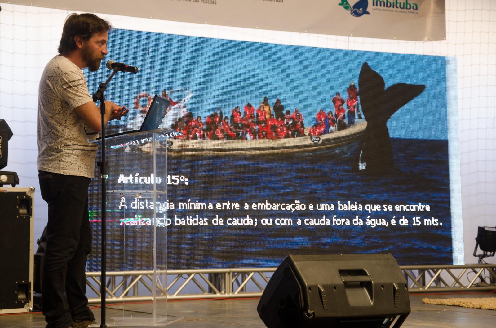 Semana de la ballena franca, encuentro en Brasil de Península Valdes