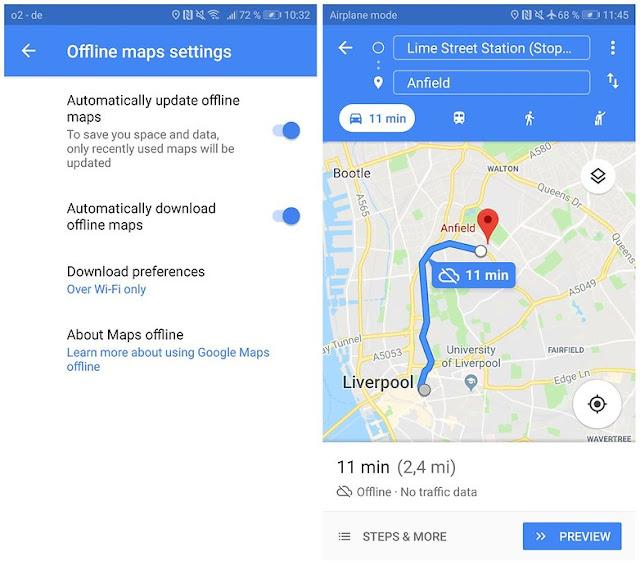 gunakan google maps offline 04