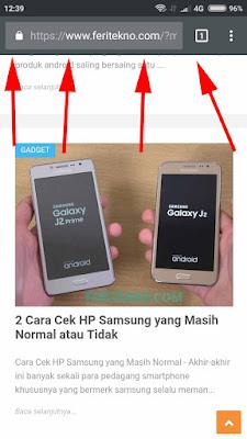 cara mengganti Theme mobile address bar