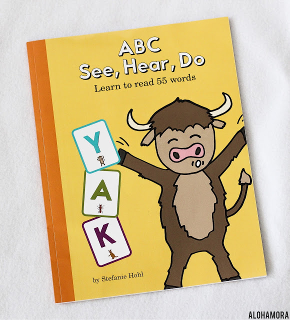 ABC See, Hear, Do: Learning to read 55 words by Stefanie Hohl gets 5 out of 5 stars in my book review. Simple book for parents to use to teach their kids the sounds the letters make.  This would be great for preschool, kindergarten, and any kid that struggles to learn the letters' sounds.  Phonics, but using actions to help, is good for many that struggle to read. Book, Parenting, Educational, Phonics, Kinesthetic, Fun, Active, Silly. make learning fun. Workbook, Ready and easy to use. Alohamora Open a Book Alohamoraopenabook https://alohamoraopenabook.blogspot.com/