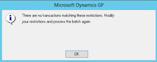 Dynamics GP Fixed Assets Issue