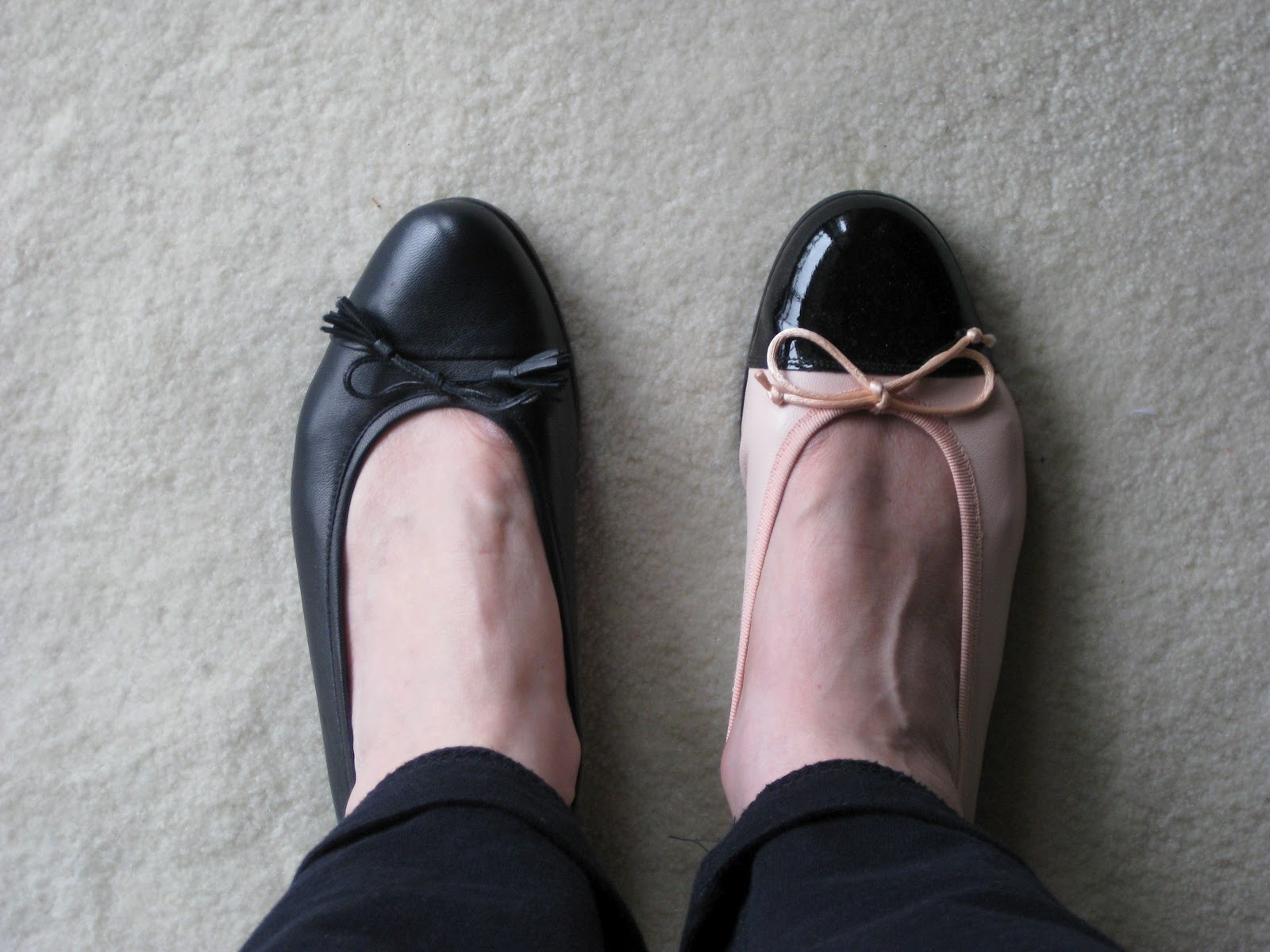 b551fd0cc95e ... makes the foot look larger - again its that old rule that light colours  reflect light and appear larger. In contrast the foot in the darker shoe  looks ...