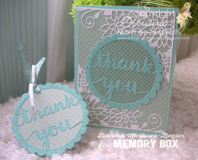a thank you set of card and tag front