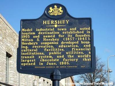 HERSHEY Historical Marker in Hershey Pennsylvania