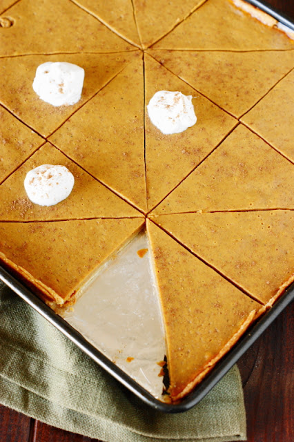 Pumpkin Slab Pie Baked in a Sheet Pan image