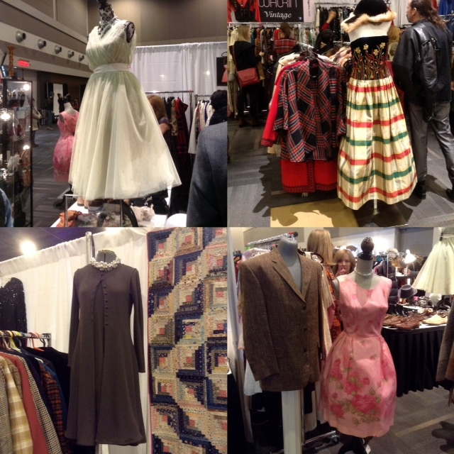 Assorted fifties dresses from Ottawa Vintage Clothing Show