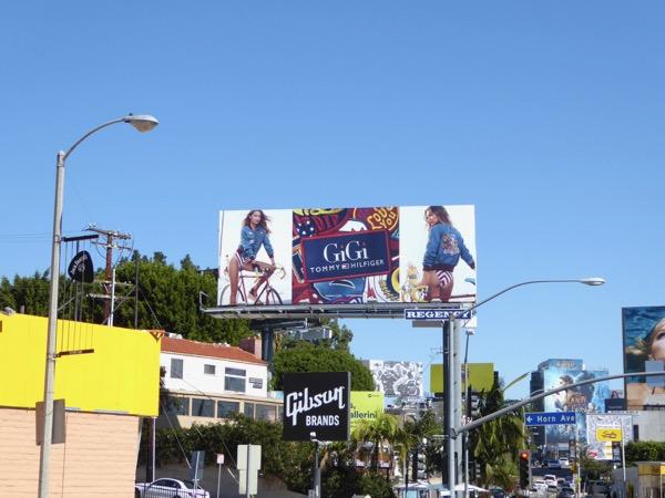 Gigi Hadid Tommy Hilfiger SS17 billboard