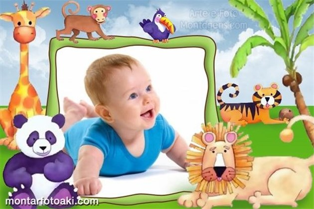 Modelo pronto Montagens de fotos para crianças