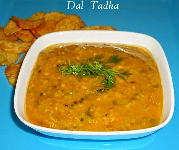 serve the dal tadka hot