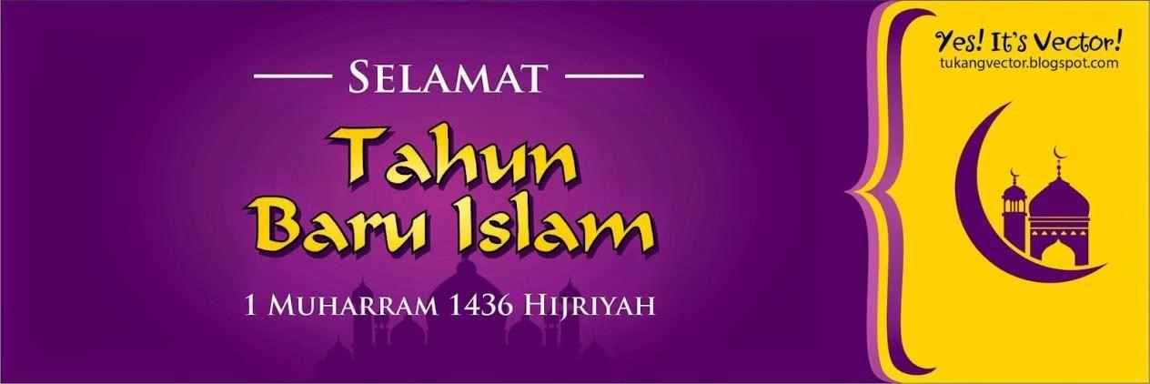 contoh spanduk tahun baru islam