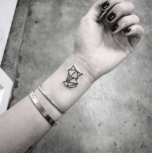 geometrik bilek dövmeleri geometric wrist tattoos 16