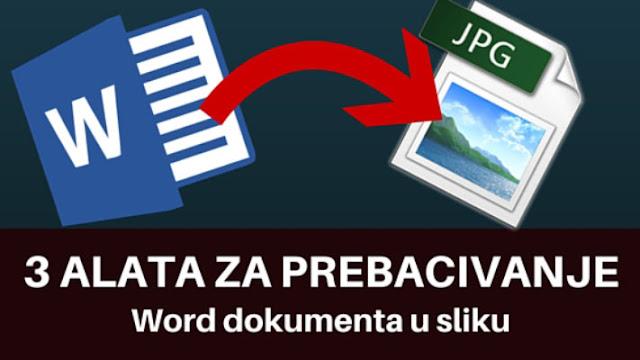 Kako konvertovati Word dokument u JPG