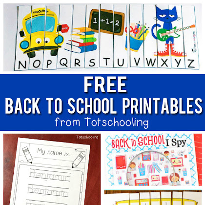 Free Back To School Printables For Kids