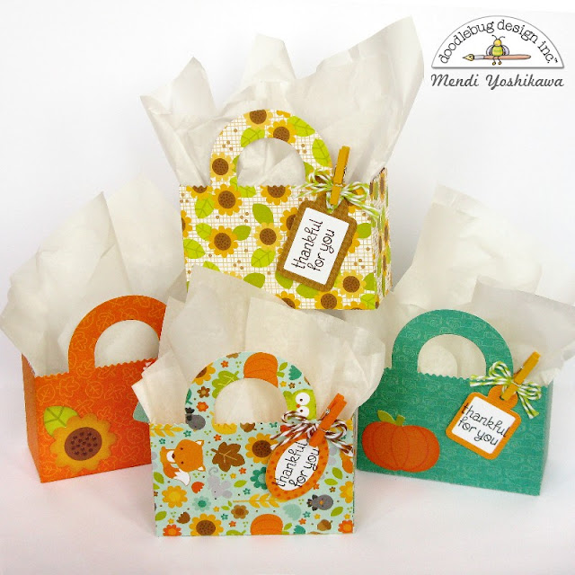 Doodlebug Design Thankful For You Party Favor Treat Bags by Mendi Yoshikawa