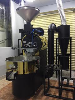 Máy rang cafe Vinaroaster 15kg/1 mẻ