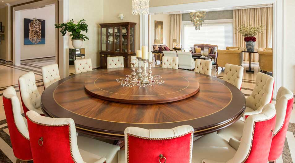 Creative Dining Table Design From Emirates Hills Villa