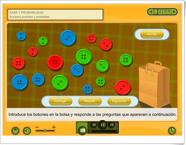"""Azar y probabilidad: """"Sucesos posibles y probables"""" (Aplicación interactiva de Matemáticas de Primaria)"""