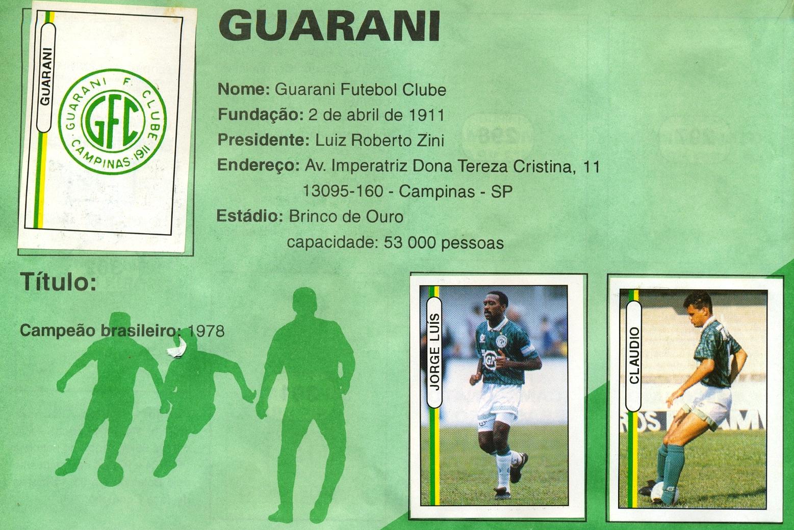 c1d070ba39 Futebola RJ  BATENDO BAFO - GUARANI 1994