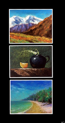 soft pastel paintings done during a Two days art workshop by Manju Panchal