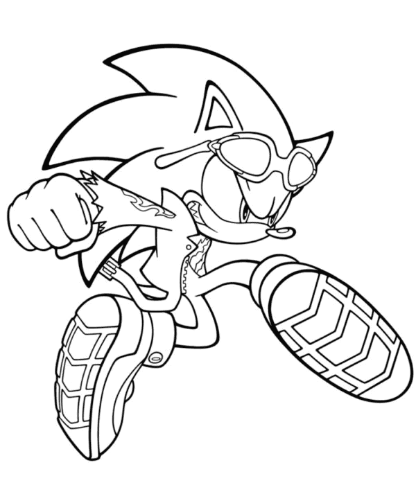 Free Printable Sonic The Hedgehog Coloring Pages For Kids | 723x600