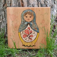 Wood Burn Matryoshka by Over The Apple Tree