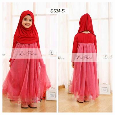 Dress Lebar Baju Lebaran Buat Anak Perempuan