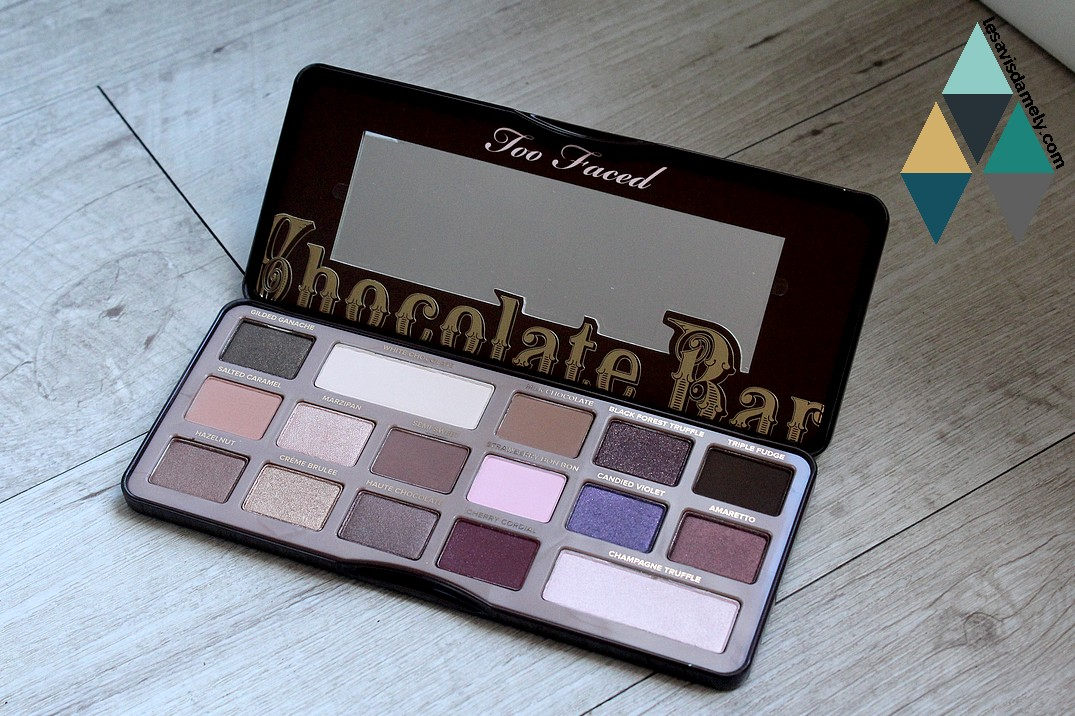 mon avis sur la chocolate bar de too faced