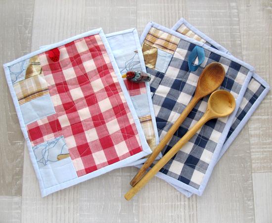potholders, прихватки, sewing