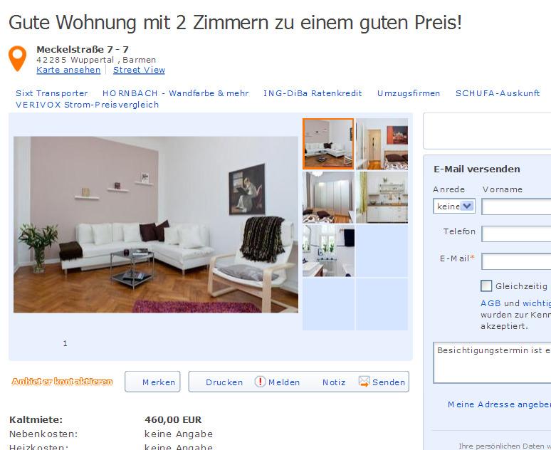 Wohnung Wuppertal Mieten