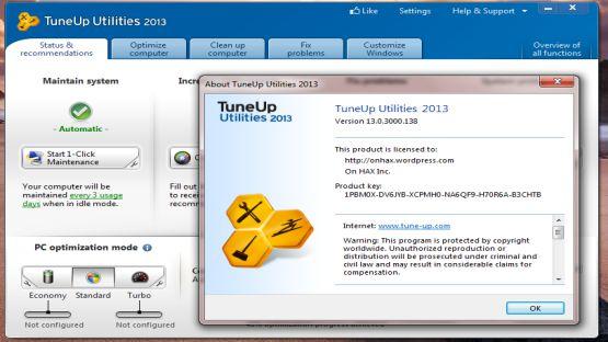 TuneUp Utilities 2013 screenshot 3