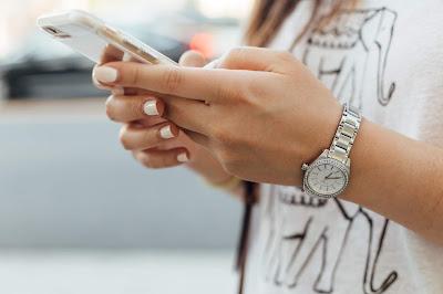 Escribiendo en el smartphone