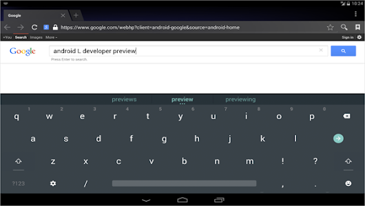 Way to get a new keyboard Android Android L