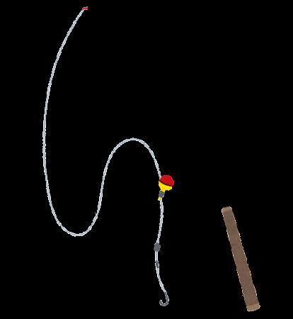 釣り竿のイラスト(のべ竿)