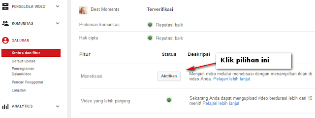 Membuat Dan Menyetting Channel di Youtube
