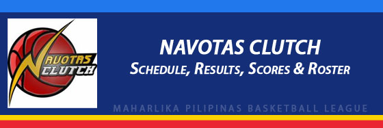 MPBL: Navotas Clutch Schedule, Results, Scores, Roster