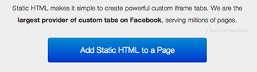Facebook Static HTML page