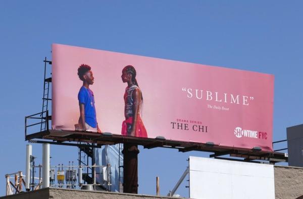 The Chi season 1 Sublime Emmy FYC billboard