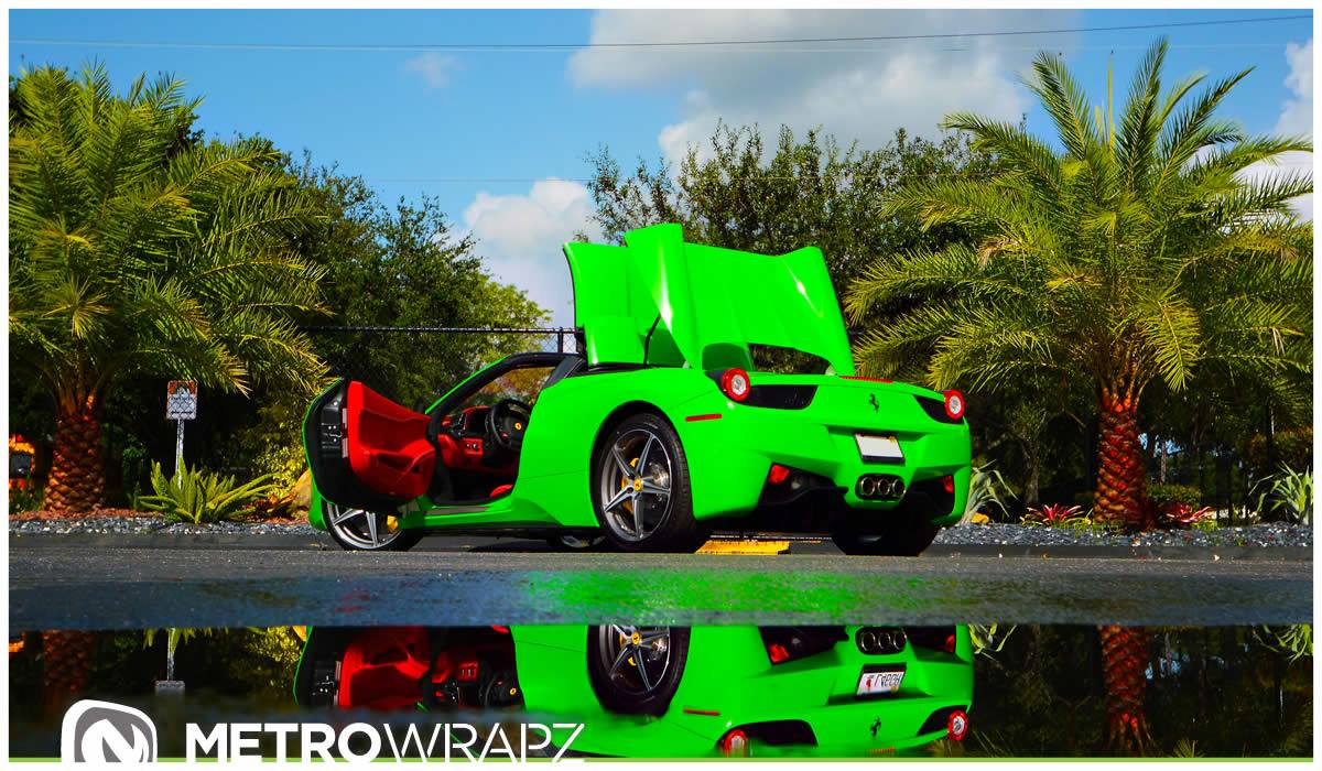 What Do You Think About A Lime Green Ferrari 458 Spider