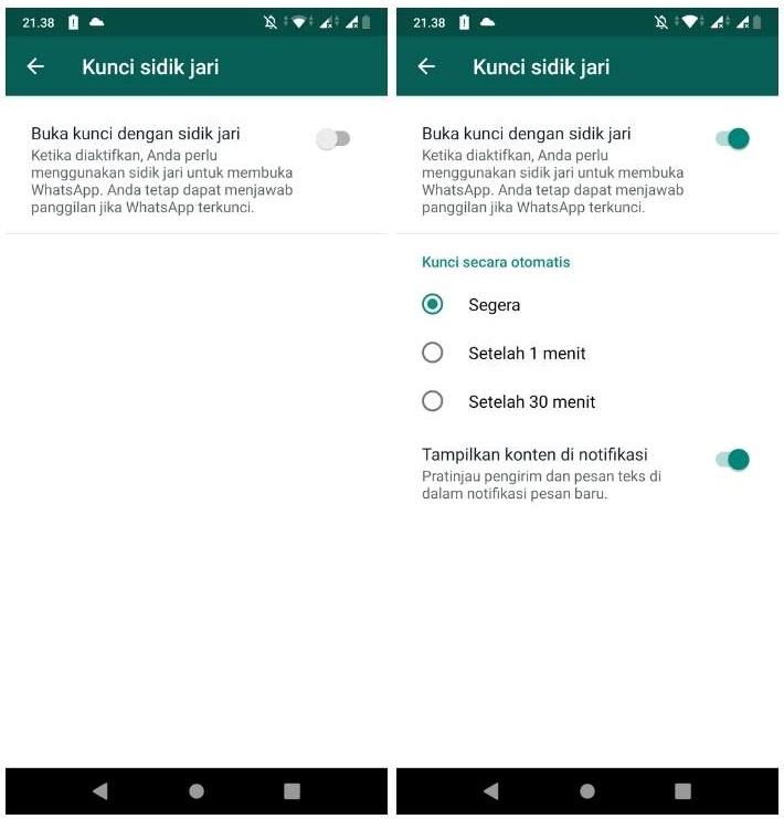 Fitur Baru! Cara Kunci WhatsApp Pakai Sidik Jari!