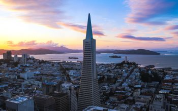 Wallpaper: Spring Sunset in San Francisco