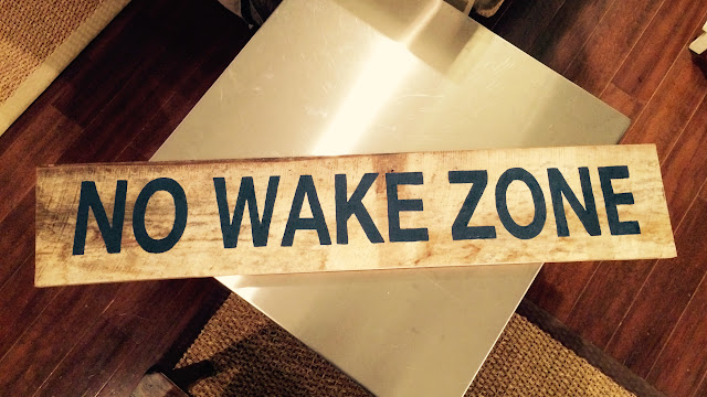 How to make a 'No Wake Zone' sign on reclaimed wood.  No Wake Zone signs remind boaters to slow down. | The Lowcountry Lady