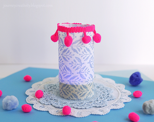 Easy fabric lantern