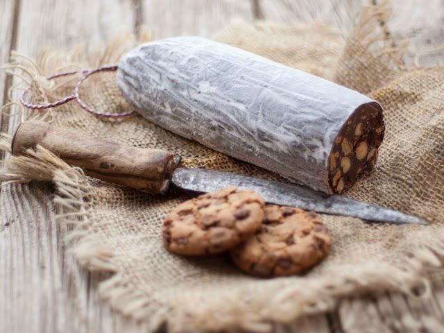 Recetas de solo 3 ingredientes: salchichón de chocolate