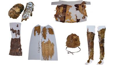 prendas de piel que vestia el hombre de hielo