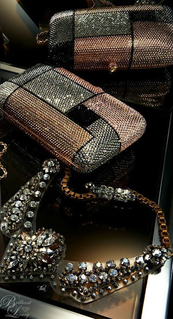 Brilliant Luxury ♦ bejeweled clutch #bags