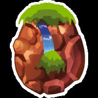 Das Erscheinen des Ei Wasserfall-Drache