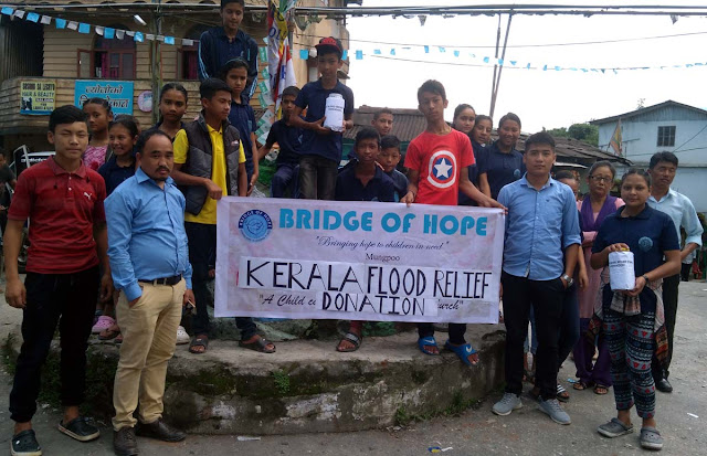Kerala flood relief donation camp by Bridge of hope