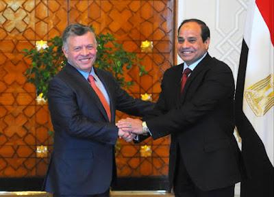 الرئيس يستقبل جلالة ملك الأردن
